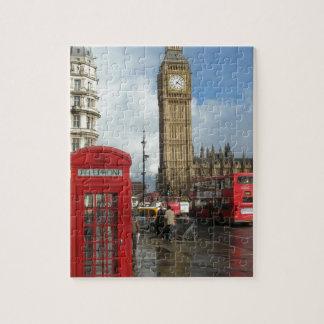 Caja del teléfono de Londres y Big Ben (St.K) Puzzles