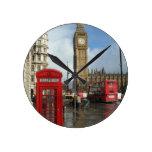 Caja del teléfono de Londres y Big Ben (St.K) Relojes