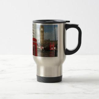 Caja del teléfono de Londres y Big Ben (St.K) Taza De Café
