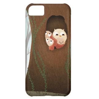 Caja del teléfono de los búhos del refugio