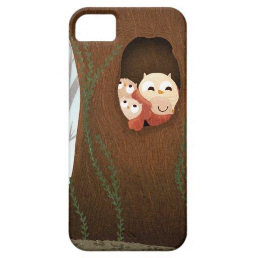 Caja del teléfono de los búhos del refugio iPhone 5 funda