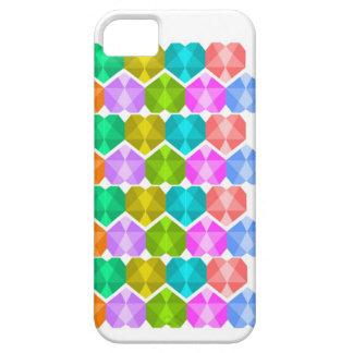 Caja del teléfono de los corazones de la gema funda para iPhone 5 barely there