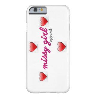 caja del teléfono de los corazones del chica del funda de iPhone 6 barely there