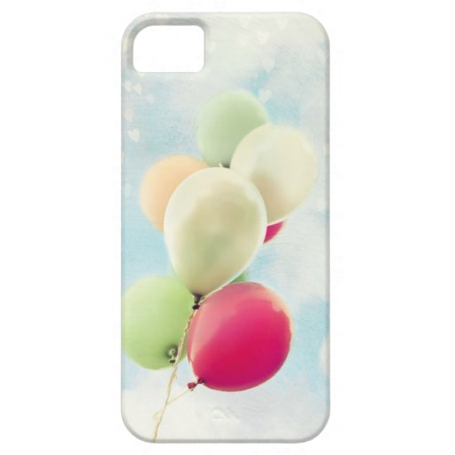 Caja del teléfono de los globos, fotografía capric iPhone 5 fundas