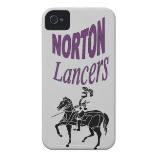 Caja del teléfono de los LANCEROS de Norton iPhone 4 Case-Mate Protector