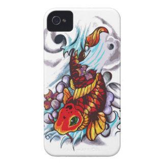 caja del teléfono de los pescados del koi Case-Mate iPhone 4 cobertura