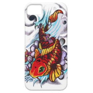 caja del teléfono de los pescados del koi funda para iPhone SE/5/5s