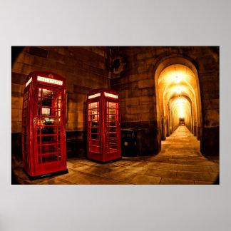 Caja del teléfono de Manchester Póster