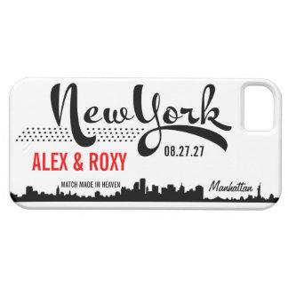 Caja del teléfono de NUEVA YORK Funda Para iPhone 5 Barely There