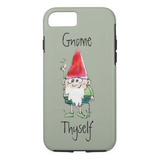 Caja del teléfono de Thyself del gnomo Funda iPhone 7