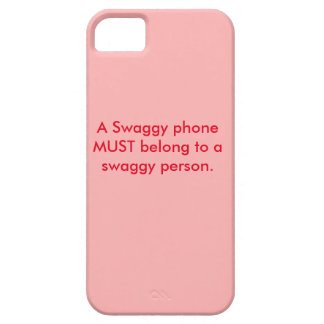 """Caja del teléfono """"de un teléfono de Swaggy"""" para iPhone 5 Case-Mate Fundas"""