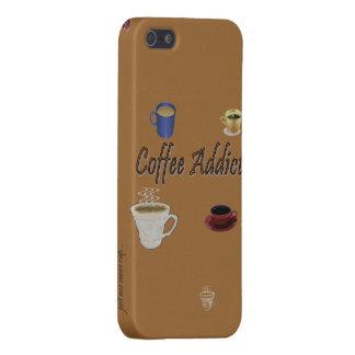 Caja del teléfono del adicto al café iPhone 5 cobertura