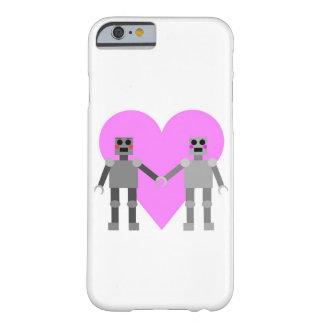 Caja del teléfono del amor del robot funda para iPhone 6 barely there