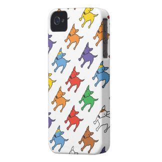 Caja del teléfono del arco iris de BULL TERRIER Case-Mate iPhone 4 Protectores