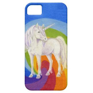 Caja del teléfono del arco iris del unicornio iPhone 5 fundas