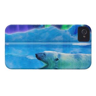 Caja del teléfono del arte de la fantasía del oso iPhone 4 Case-Mate protector