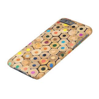 Caja del teléfono del arte del modelo del creyón funda barely there iPhone 6