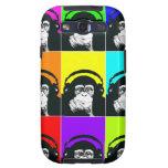 Caja del teléfono del arte pop del mono de la cade galaxy s3 carcasa
