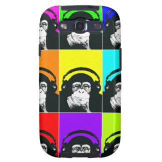 Caja del teléfono del arte pop del mono de la cade galaxy s3 cobertura