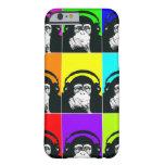 Caja del teléfono del arte pop del mono de la funda de iPhone 6 barely there