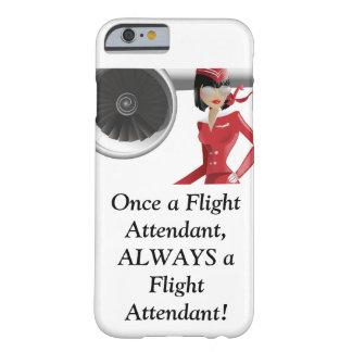 caja del teléfono del asistente de vuelo funda para iPhone 6 barely there