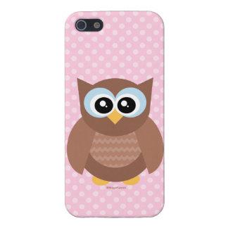 Caja del teléfono del búho de Kawaii iPhone 5 Carcasas