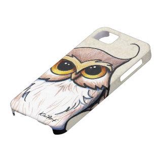 Caja del teléfono del búho de KiniArt iPhone 5 Funda
