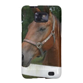 Caja del teléfono del caballo de la castaña dulce galaxy SII carcasa