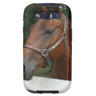 Caja del teléfono del caballo de la castaña dulce samsung galaxy s3 carcasa