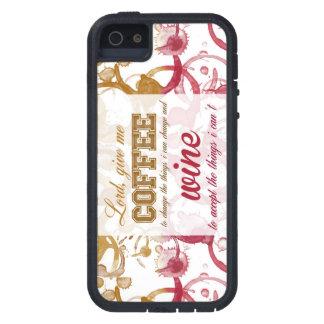 Caja del teléfono del café y del vino funda para iPhone 5 tough xtreme