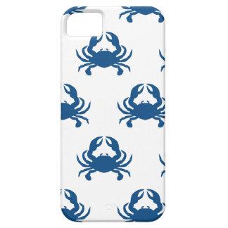 Caja del teléfono del cangrejo azul iPhone 5 funda