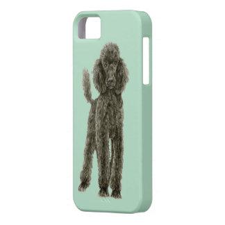 Caja del teléfono del caniche iPhone 5 Case-Mate funda