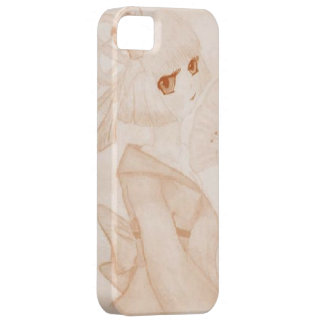Caja del teléfono del chica de geisha del animado iPhone 5 carcasa