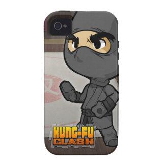 Caja del teléfono del choque de Kung Fu (Ninja) Vibe iPhone 4 Fundas