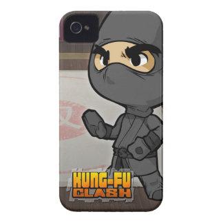 Caja del teléfono del choque de Kung Fu (Ninja) Case-Mate iPhone 4 Protectores