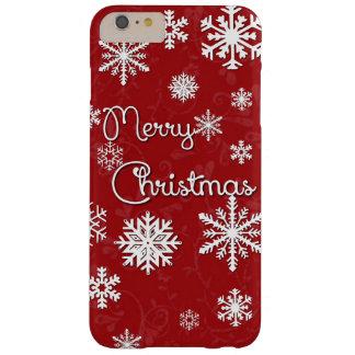 Caja del teléfono del copo de nieve de las Felices Funda De iPhone 6 Plus Barely There