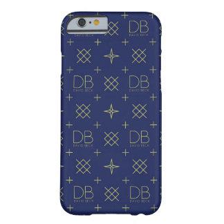 Caja del teléfono del DB David Beck (azul y Funda Para iPhone 6 Barely There