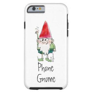 Caja del teléfono del dibujo animado del gnomo del funda resistente iPhone 6