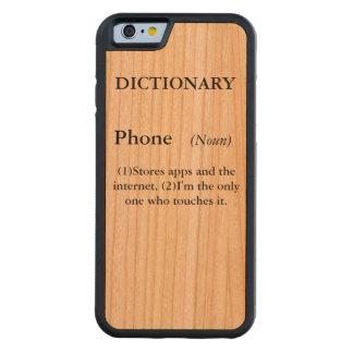 Caja del teléfono del diccionario funda de iPhone 6 bumper cerezo