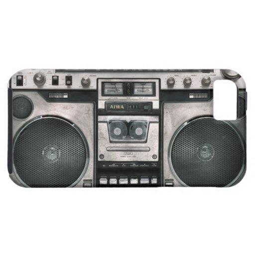 Caja del teléfono del equipo estéreo portátil funda para iPhone SE/5/5s