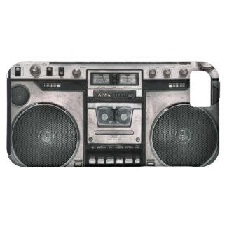 Caja del teléfono del equipo estéreo portátil iPhone 5 funda