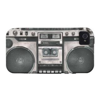Caja del teléfono del equipo estéreo portátil vibe iPhone 4 carcasas
