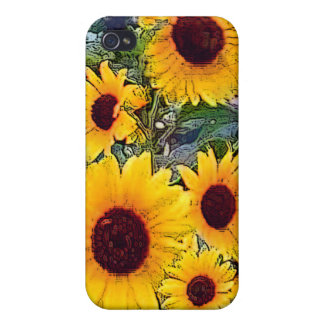 Caja del teléfono del girasol iPhone 4 cárcasa