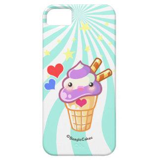 Caja del teléfono del helado de Kawaii iPhone 5 Carcasas