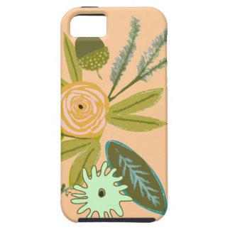 Caja del teléfono del iphone 5S de la flora Funda Para iPhone 5 Tough