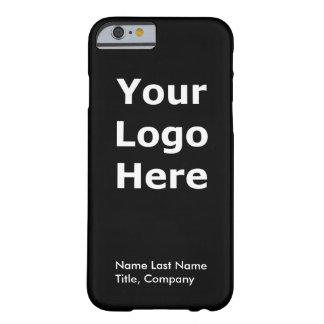 Caja del teléfono del iPhone 6 del logotipo de la Funda Barely There iPhone 6