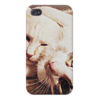 caja del teléfono del juego de los gatos iPhone 4/4S fundas