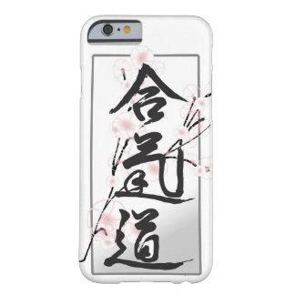 Caja del teléfono del kanji del Aikido Funda De iPhone 6 Barely There