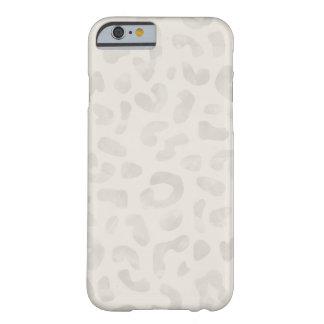 Caja del teléfono del leopardo de la acuarela - de funda de iPhone 6 barely there