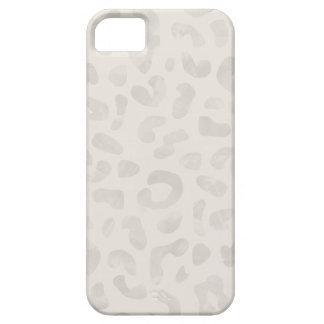 Caja del teléfono del leopardo de la acuarela - de iPhone 5 cárcasas